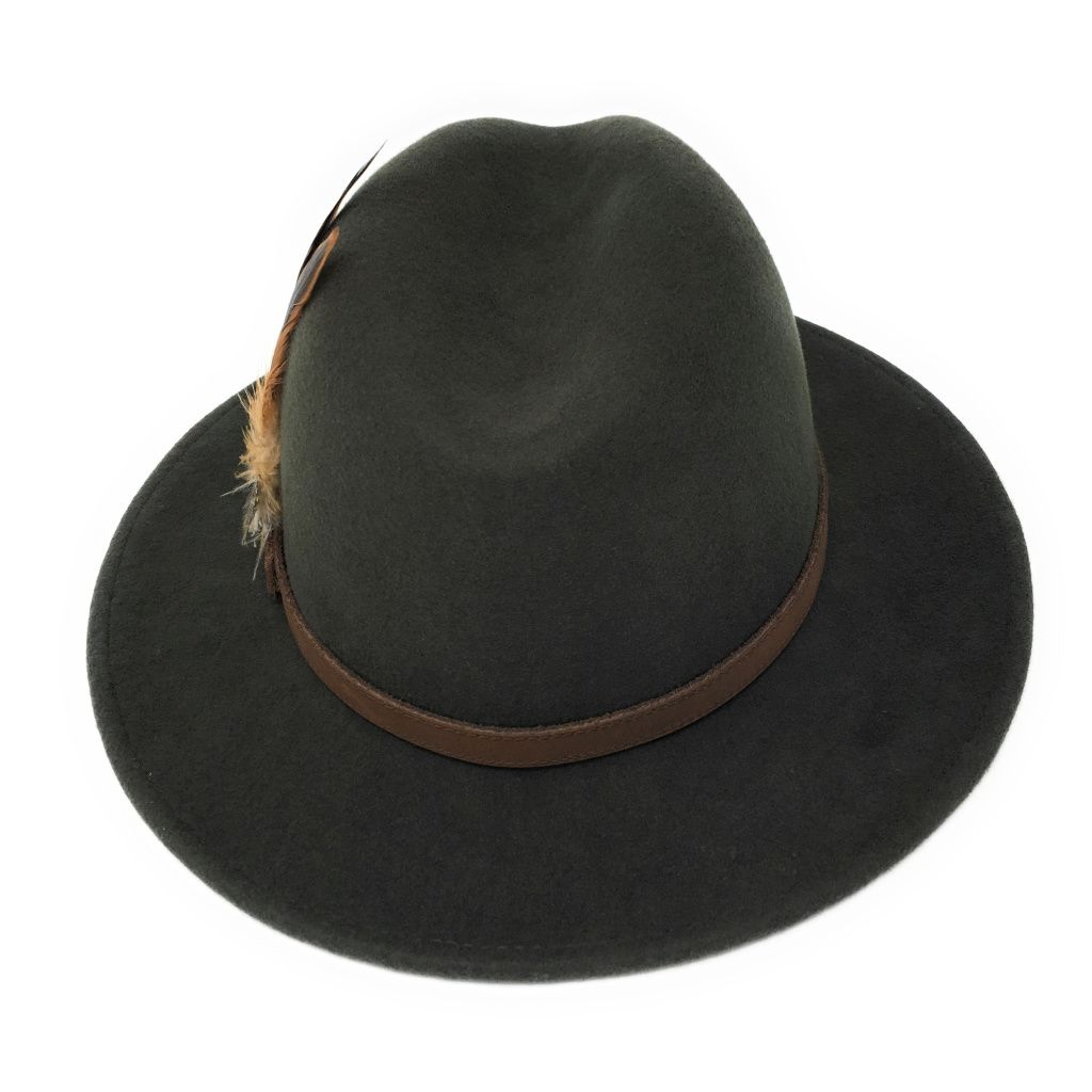 Green Wool Fedora Hat - Showerproof - Arizona 659d675454c